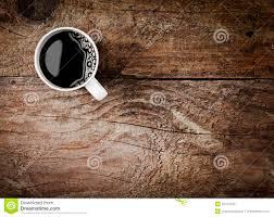 mug of espresso coffee on rustic wood stock photography image