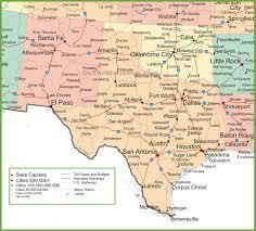 San Antonio Texas Map Map New Mexico And Texas
