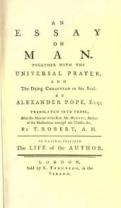 Alexander Pope   quot An Essay on Man quot    Auburn University
