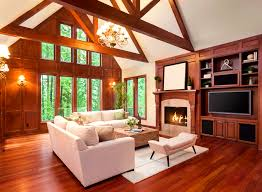 Exposed Beam Ceiling Living Room by Apartments Fascinating Lighting Space Vaulted Ceiling Light Nest