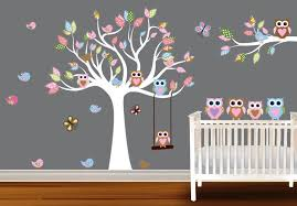 Tree Decal For Nursery Wall by Living Room Lovely White Birch Tree Wall Decal For Nursery In