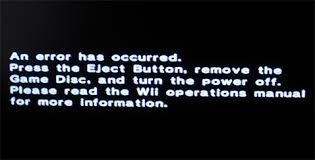 Wii Error Message