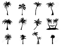 palmier dessin tropiques une silhouette de palmiers et dune femme