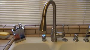kitchen brushed nickel moen extensa with single handle for