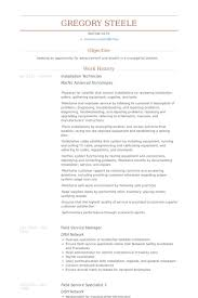 Maintenance Technician Resume Sample by Installation Technician Resume Samples Visualcv Resume Samples