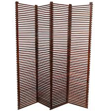 Wood Slat by Mid Century Modern Tall Solid Wood Slat Room Divider Screen
