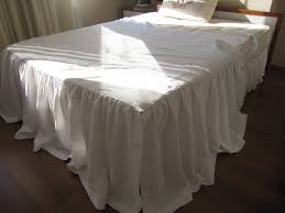 Linen Daybed Day Bed Cover Ruffled White Linen With Ties Skirted