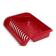 Plastic Dish Drying Rack Small Red Plastic Plate Dish Drainer 5 Colours Available Ebay
