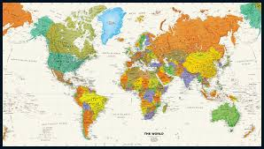 Peters Projection World Map by World Maps By Category