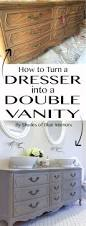how to turn a dresser into a double vanity diy your home