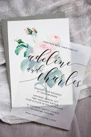 Printable Invitation Card Stock Gasp Worthy Translucent Wedding Invitation With Vintage Rose