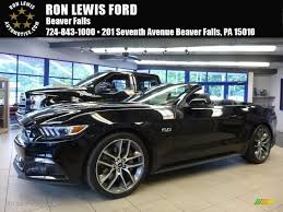 Ford Mustang Gt Black 2017 Shadow Black Ford Mustang Gt Premium Convertible 114176190