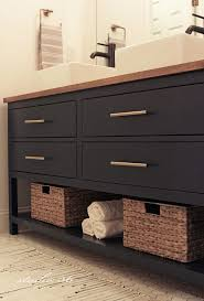 Black Distressed Bathroom Vanity by Best 25 Black Bathroom Vanities Ideas On Pinterest Black