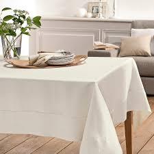 chemin de lit en lin ensemble nappe délices de lin ivoire blanc cerise