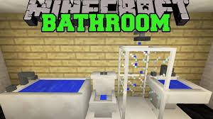 minecraft bathroom designs minecraft bathroom design youtube