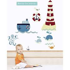 beside the seaside fabric wall stickers by littleprints beside the seaside fabric wall stickers
