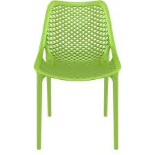 Modern Outdoor Chairs Plastic Compamia Air Outdoor Dining Chair Tropical Green Isp014 Trg