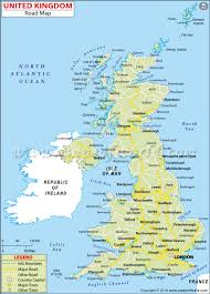 Map Of Ireland And England Uk Road Map United Kingdom Highway Map