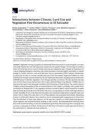 Interactions between Climate  Land Use and Vegetation Fire Occurrences in El Salvador Social Science Research Council