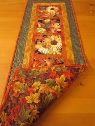 Quilted Table Runners by Fall Harvest Quilted Table Runner To Use Up All That Fall Harvest