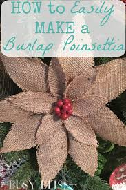 how to easily make a burlap poinsettia rustic christmas