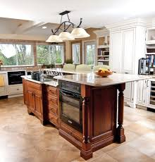incomparable kitchen island with stove and oven also two level