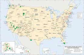 Big Map Of The United States by National Parks And Other Recreational Areas Of The United States