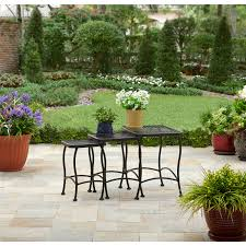 Black Wrought Iron Patio Furniture Sets by Better Homes And Gardens Seacliff Wrought Iron Nesting Side Tables