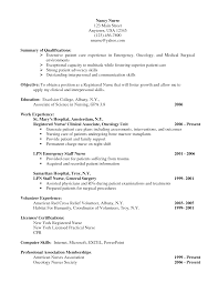 Registered Nurse Resume Examples by Oncology Nurse Resume Sample Free Resume Example And Writing