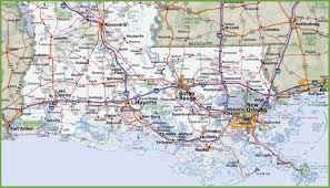 Southeast Map Map Of Southern Louisiana