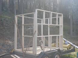 my first attemp at an 8 u0027x6 u0027 elevated deer blind with 16 u0027 posts
