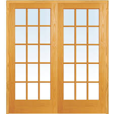 Home Depot Interior Double Doors Mmi Door 61 5 In X 81 75 In Classic Clear True Divided 15 Lite