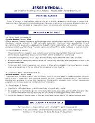 Banker Resume Example by Free Premier Banker Resume Example