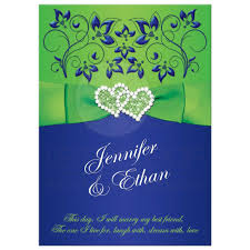 wedding bible verses for invitations wedding invitation royal blue lime green floral printed