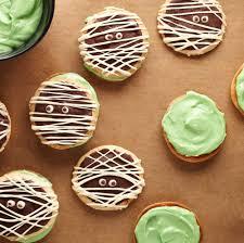 mummy sandwich cookies with white and dark chocolate recipe