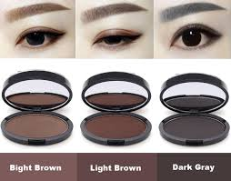 professional makeup eyebrow gel brow stamp grey brown powder seal