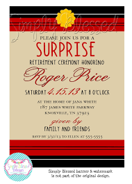 Retirement Function Invitation Card Surprise Firefighter Retirement Party Invitation Diy By