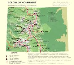 Map Of Colorado by Peaklist Prominence Lists And Maps