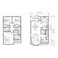 apartments floor plans for narrow lots lot narrow plan house