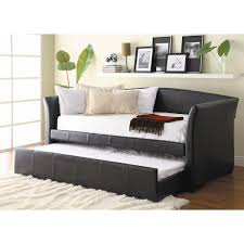 bedroom black daybeds with trundles with headboard bookshelves