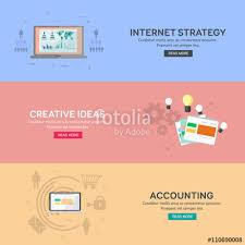 Website Design Ideas For Business Flat Design Concepts For Business Finance Internet Strategy