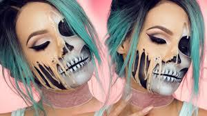 The 15 Best Sugar Skull Makeup Looks For Halloween Halloween by Melting Skull Desi Perkins Youtube