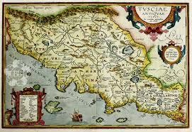 Tuscany Map Ortelius U0027 Map Of Ancient Tuscany Bryars U0026 Bryars