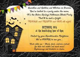 halloween block party invitation digital file