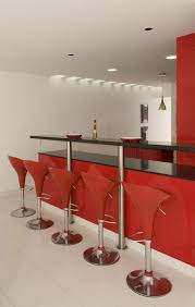 Home Bar Designs Pictures Contemporary Apartments Stunning Red Home Bar Design With Glossy Black Granite