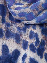 Blue Leopard Print by Lily And Lionel U0027eva U0027 Leopard Print Scarf In Blue Lyst