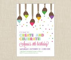Create Birthday Invitation Card Online Breathtaking Painting Birthday Party Invitations Theruntime Com