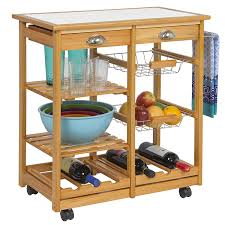 amazon com best choice products wood kitchen storage cart dining