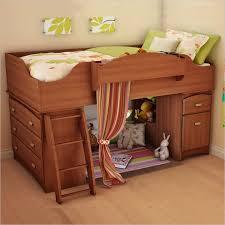 south shore imagine twin wood loft bed set in morgan cherry kids