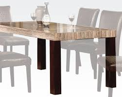faux marble top dining table fraser by acme ac70130
